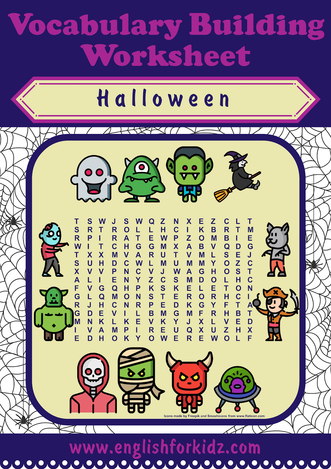 Printable Halloween Worksheets Flashcards And Games