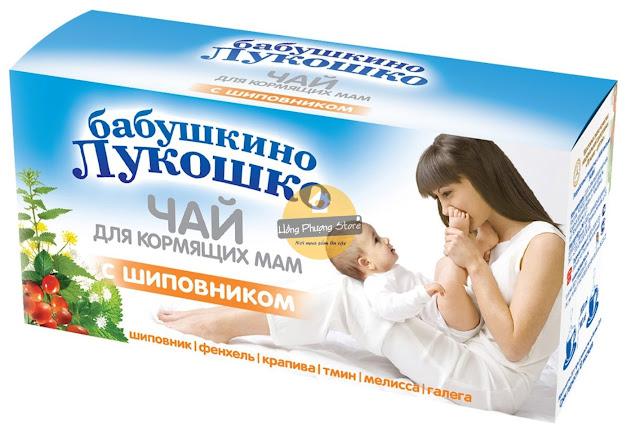 Trà lợi sữa Grandma Lukoshko vị hoa hồng
