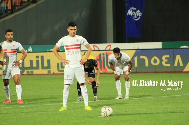 التعادل الإيجابي هو عنوان الشوط الأول من مباراة الزمالك والمقاولون العرب