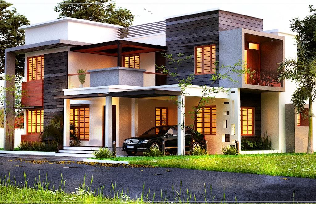2200 sq ft 4 bedroom Kerala modern box type home