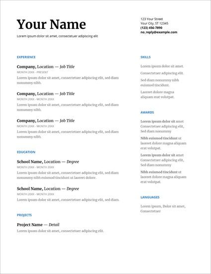 Template Riwayat Hidup Format Microsoft Office Word Versi 20