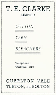 T. E. Clarke Ltd, Cotton Yarn Bleachers, Turton