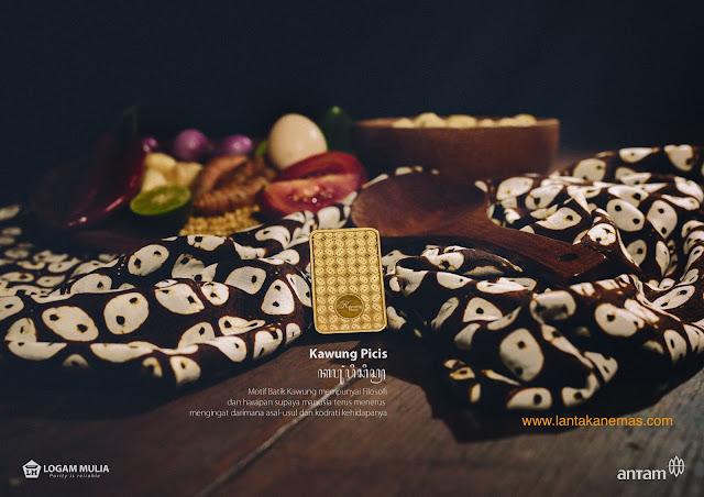 Emas Antam Motif Batik Kawung Picis