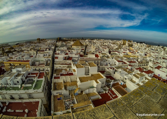 Andaluzia: Cádiz vista do alto da Torre de Tavira