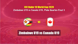 CAN-19 vs ZIM-19 ICC U19 World Cup Quarter Final 3