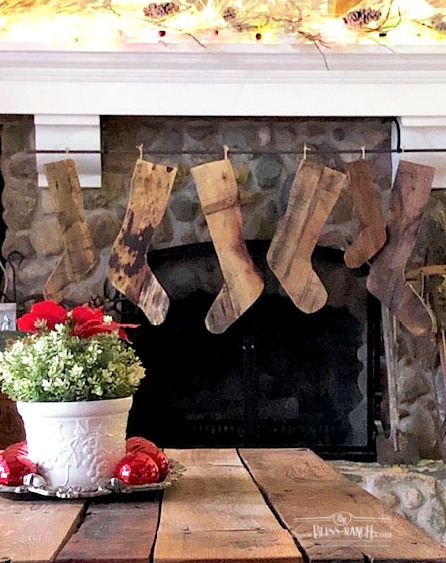 Rustic Wood Stockings Bliss-Ranch.com