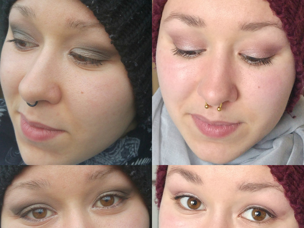 Makeup Revolution Romantic Smoked palette look