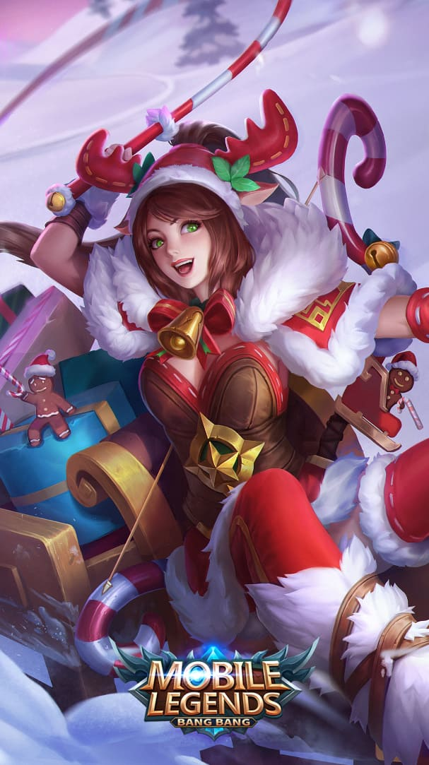 Wallpaper Miya Christmas Carnival Skin Mobile Legends HD for Android and iOS
