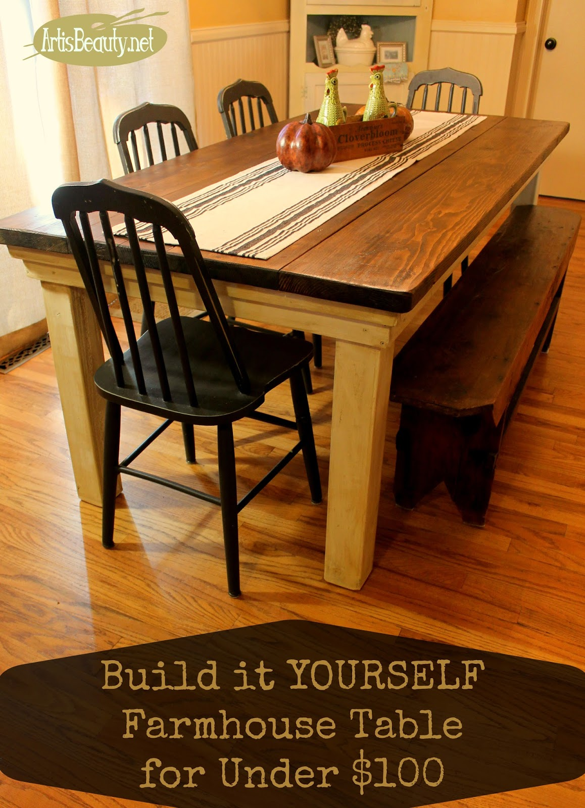ART IS BEAUTY: How to build your own FarmHouse Table for ...