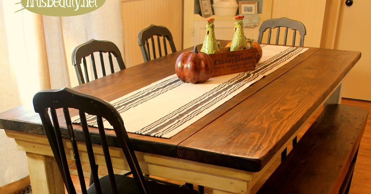 ART IS BEAUTY How to build your own FarmHouse Table for under $100