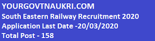 South Eastern Railway Recruitment 2020,Railway SER Office Superintendent Recruitment 2020