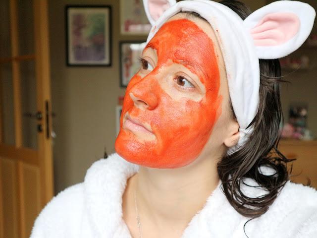 Red pepper paste mask réusltat