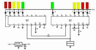 car O2 sensor circuit diagram