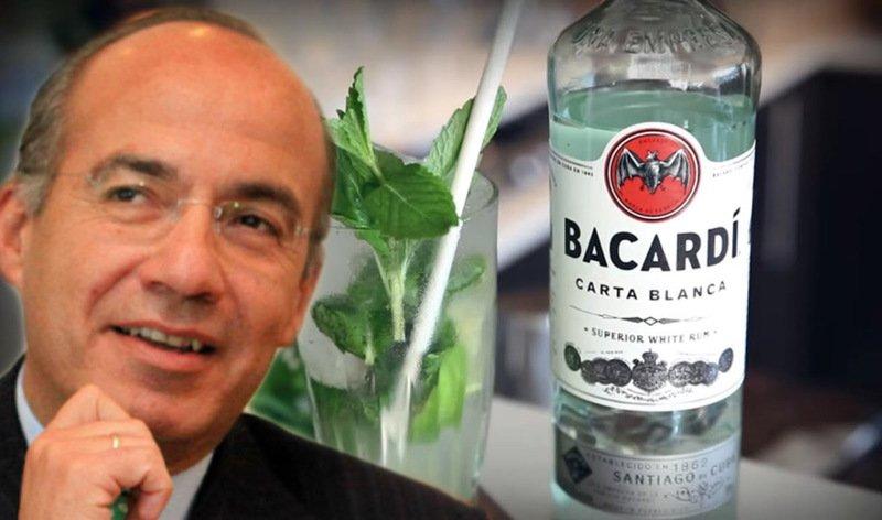 Felipe Calderón le perdonó a Bacardi más de 4 millones de pesos en impuestos