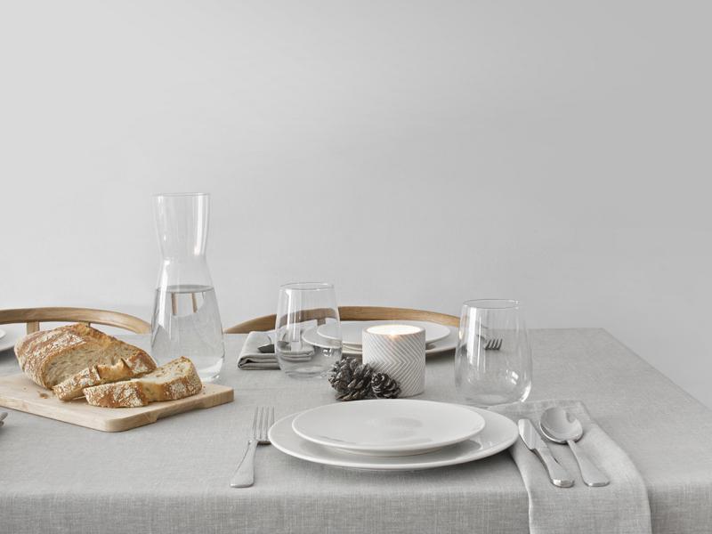 DECORAR MESA ELEGANTE CON MANTEL DE LINO GRIS / ELEGANT TABLE DECOR WITH GRAY LINEN TABLE