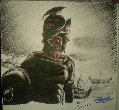 spartan warrior drawing and halo spartan helment, shield drawing