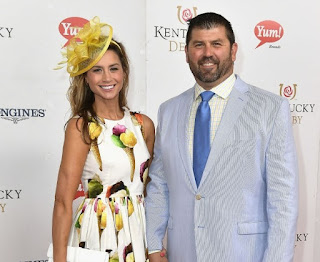 Catherine Panagiotopoulos with her husband Jason Varitek