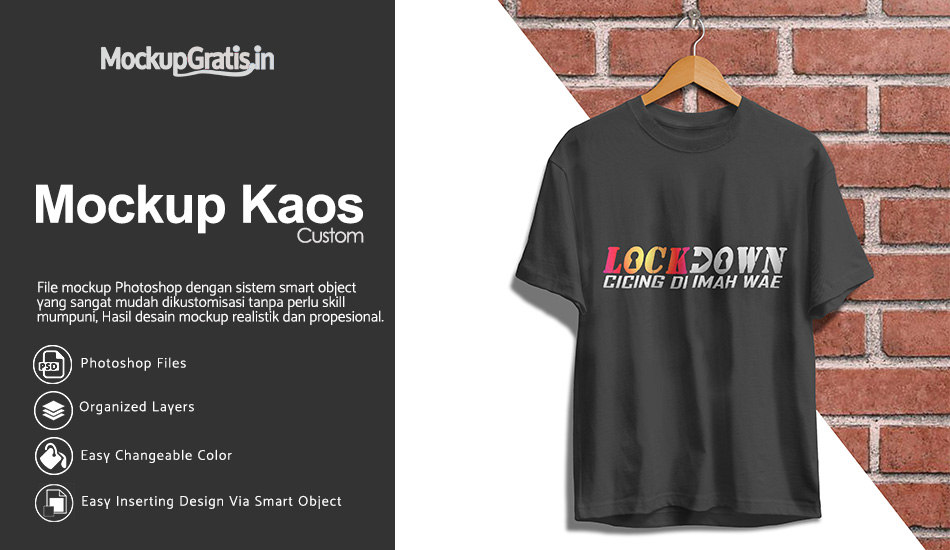 Mockup Kaos Custom Dengan Hanger