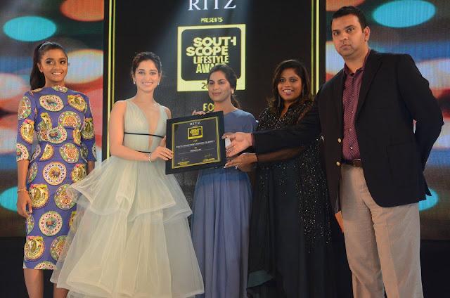 tamanna at south scope awards