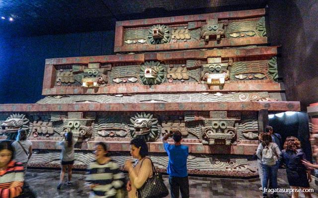Peças da cultura de Teotihuacán no Museu Nacional de Antropologia do México