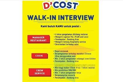 WALK INTERVIEW D'COST