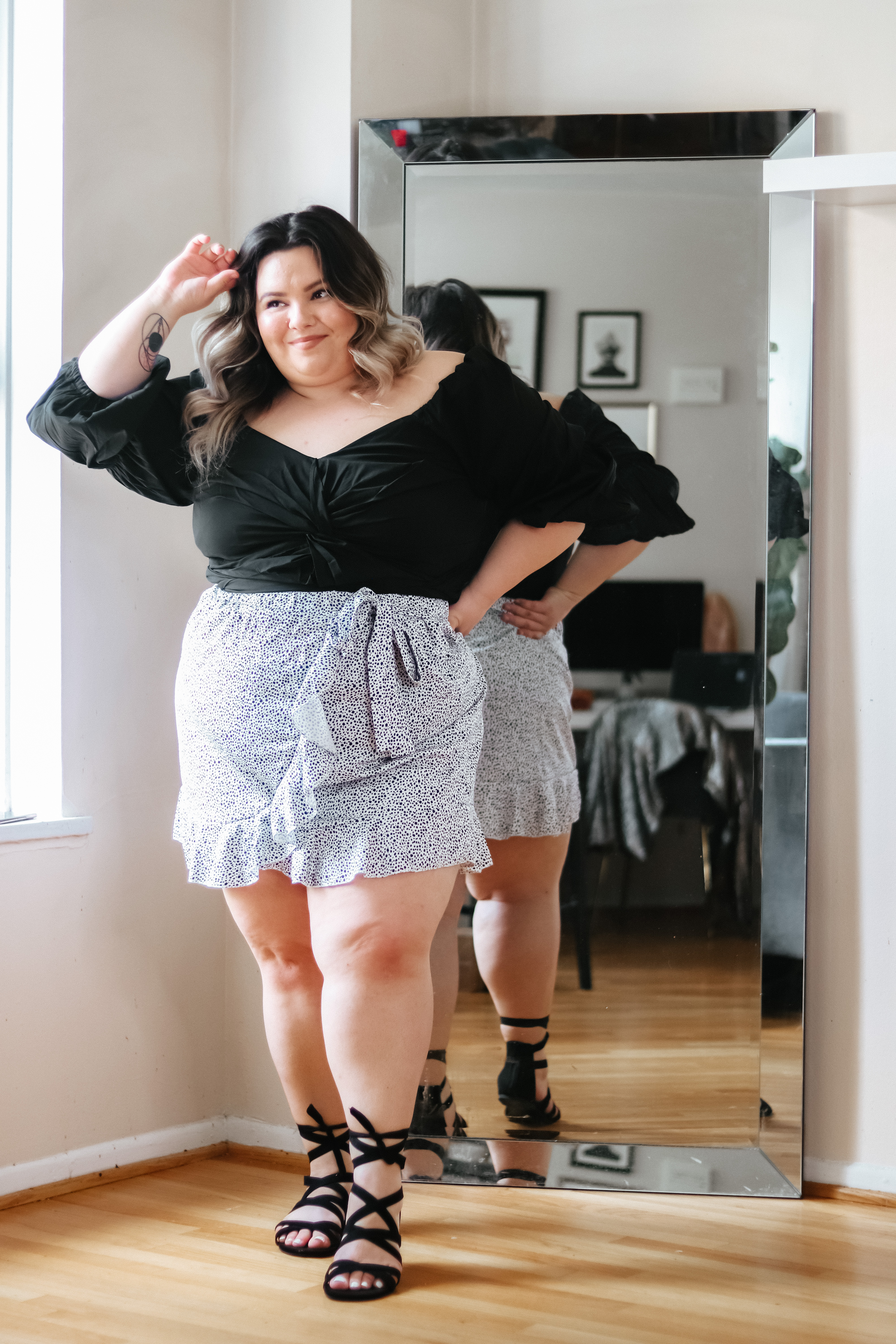 Chicago Plus Size Petite Fashion Blogger and model Natalie Craig, of Natalie in the City, reviews SHEIN's mini skirts