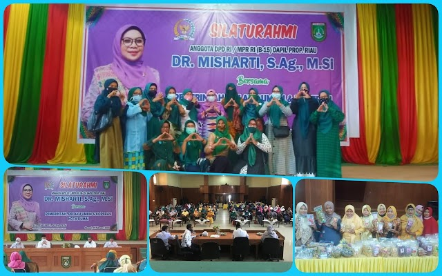Silahturahmi Anggota DPD/MPR RI Dapil Riau DR. Misharti, S.Ag, MSi, Bersama Pelaku UMKM dan Koperasi Kota Dumai