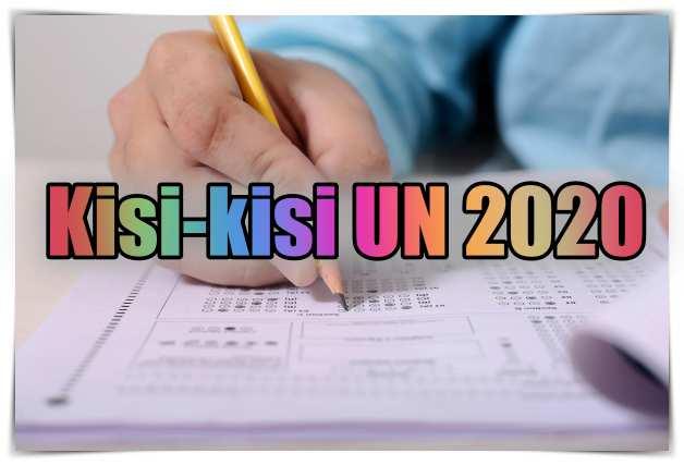 kisi-kisi soal un 2020