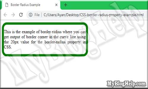 CSS-border-radius-property-example