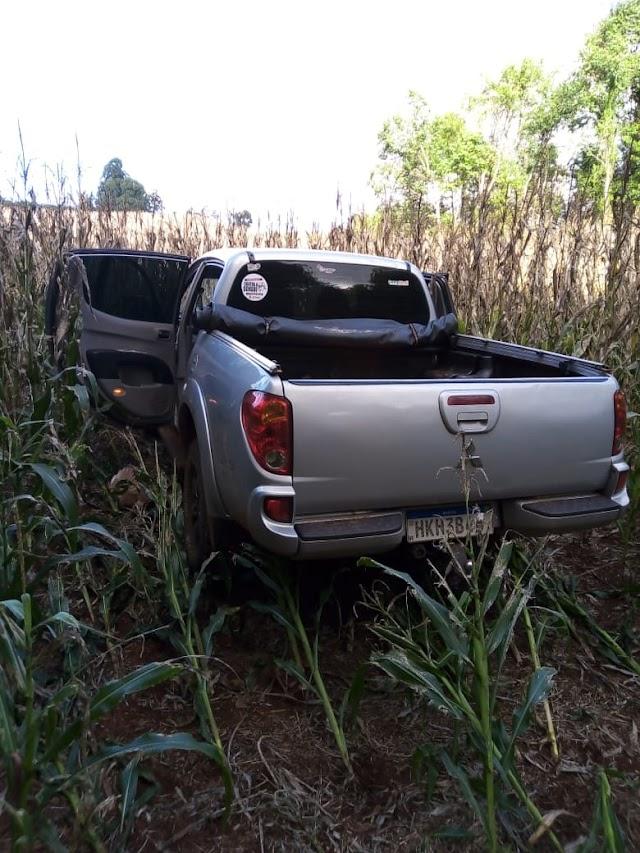 Camionete roubada em Campina da Lagoa é recuperada pela PM em Roncador