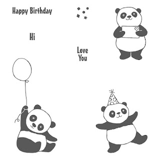 Take a closer look at the Party Pandas stamp set by Stampin' Up! which you can get FREE when you spend £45 on products.