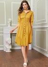 Lựa chọn mẫu váy áo gam vàng mustard không hề kén da