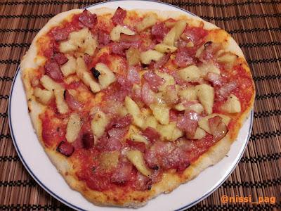 Pizza de poma i bacó