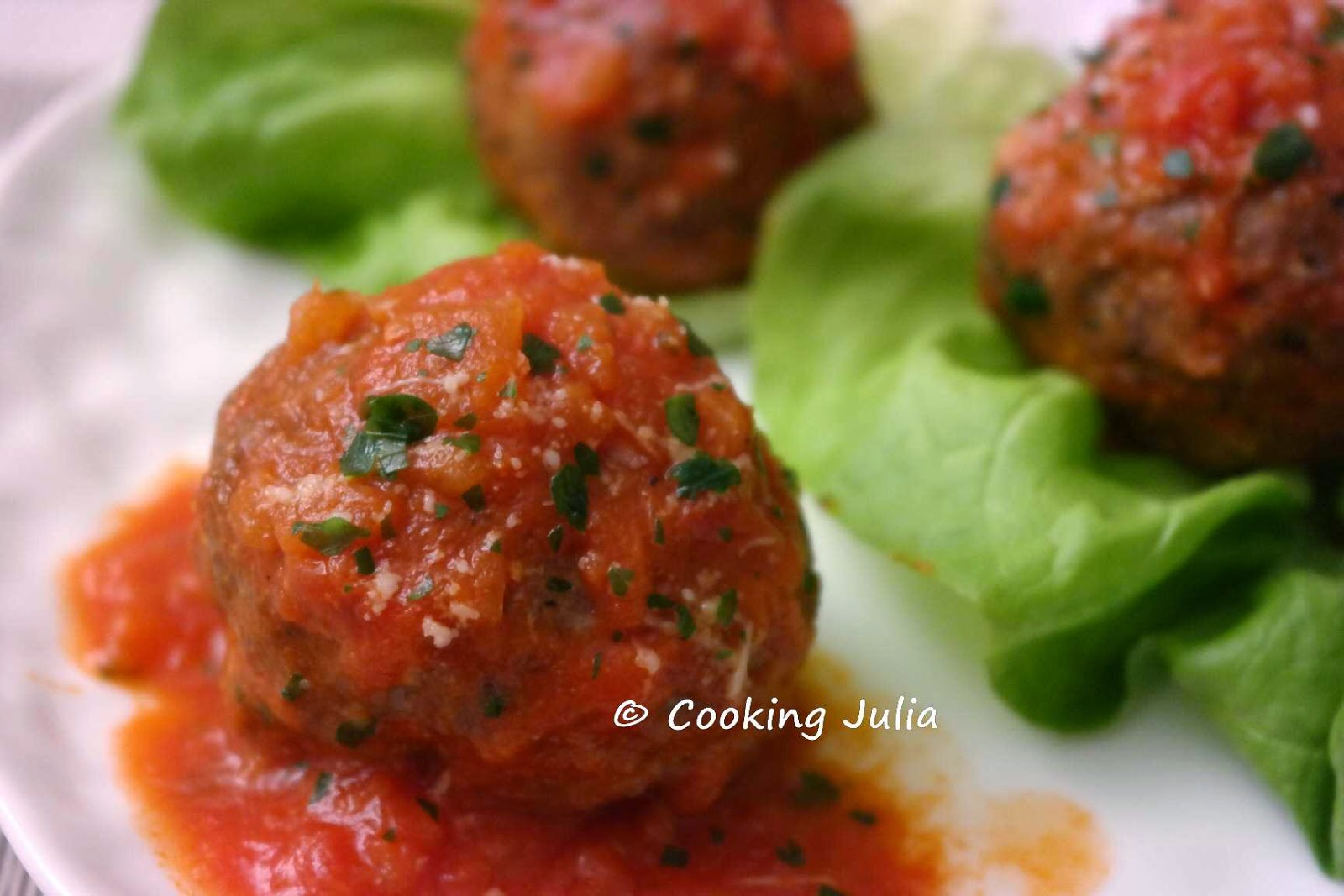 cooking julia boulettes de viande l 39 italienne. Black Bedroom Furniture Sets. Home Design Ideas
