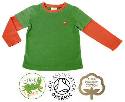 boys Green Nippers long sleeved tee shirt