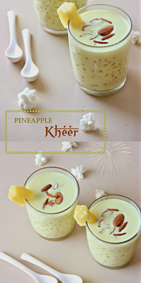 Pineapple kheer #dessertrecipes