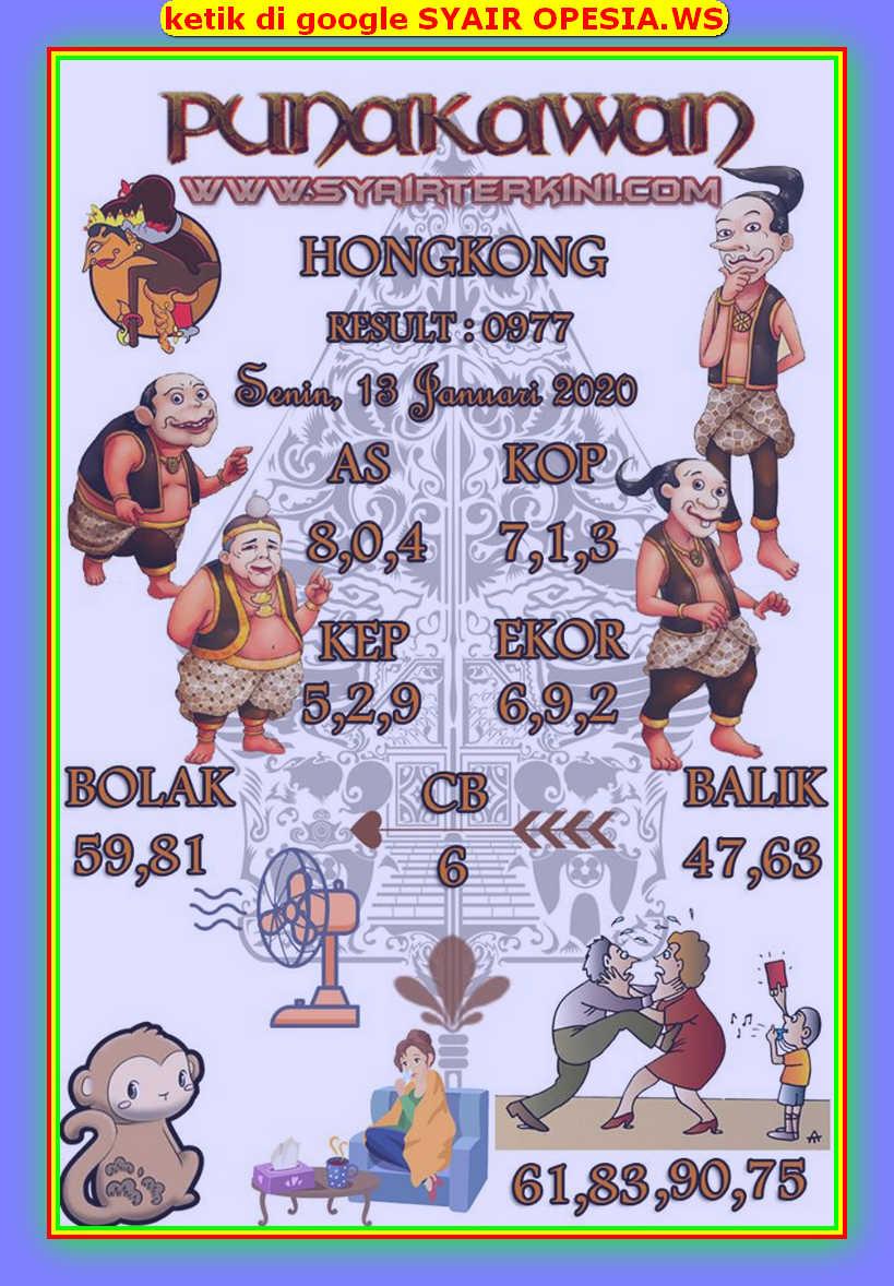 Kode syair Hongkong Senin 13 Januari 2020 131