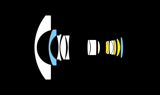 Оптическая схема Nikon AF-S Fisheye Nikkor 8-15mm f/3.5-4.5E ED