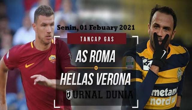 Prediksi Roma vs Hellas Verona , Senin 01 Febuary 2021 Pukul 02:45 WIB @ beIN Sports