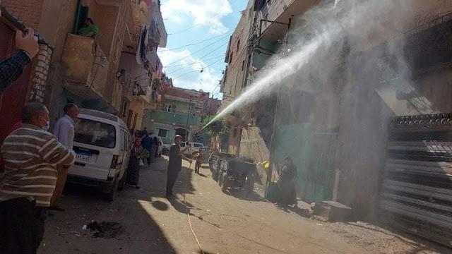 استمرار اعمال تطهير قرية نجريج مسقط راس محمد صلاح