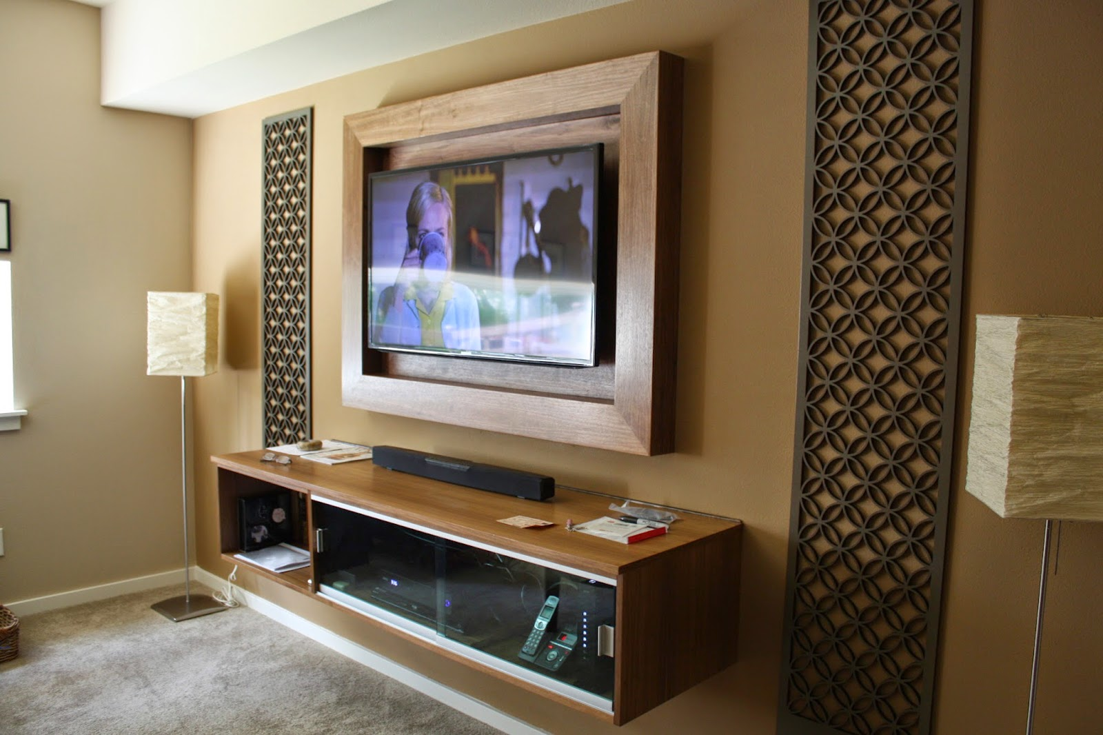 Tv Frame And Floating Credenza