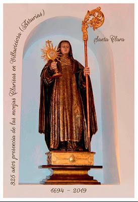 Tarjeta prefranqueada del 325 aniversario de las Clarisas de Villaviciosa