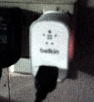 belkin wall charger in use