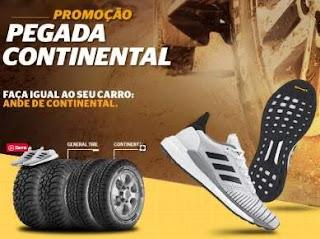 Promoção Pegada Continental Pneus Compre Ganhe Tênis Adidas Solado Continental