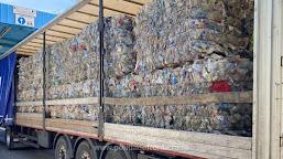 15 tone deșeuri din plastic oprite la P. T. F. Calafat