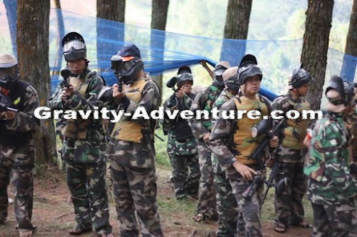 PAKET OUTBOUND PAINTBALL PANGALENGAN GRAVITY ADVENTURE