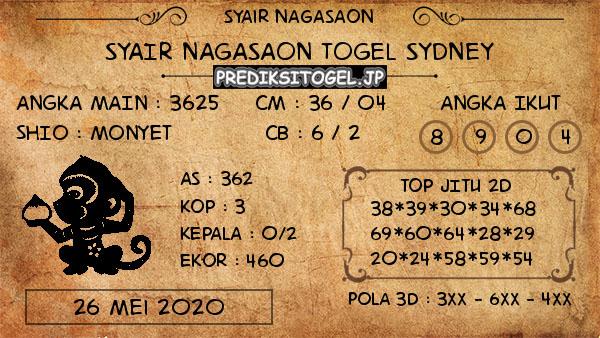 Prediksi Sydney Selasa 26 Mei 2020 - Nagasaon