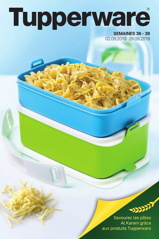 Catalogue TUPPERWARE Maroc Septembre 2019