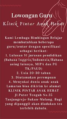 Loker S1 Malang Terbaru 2021/2022