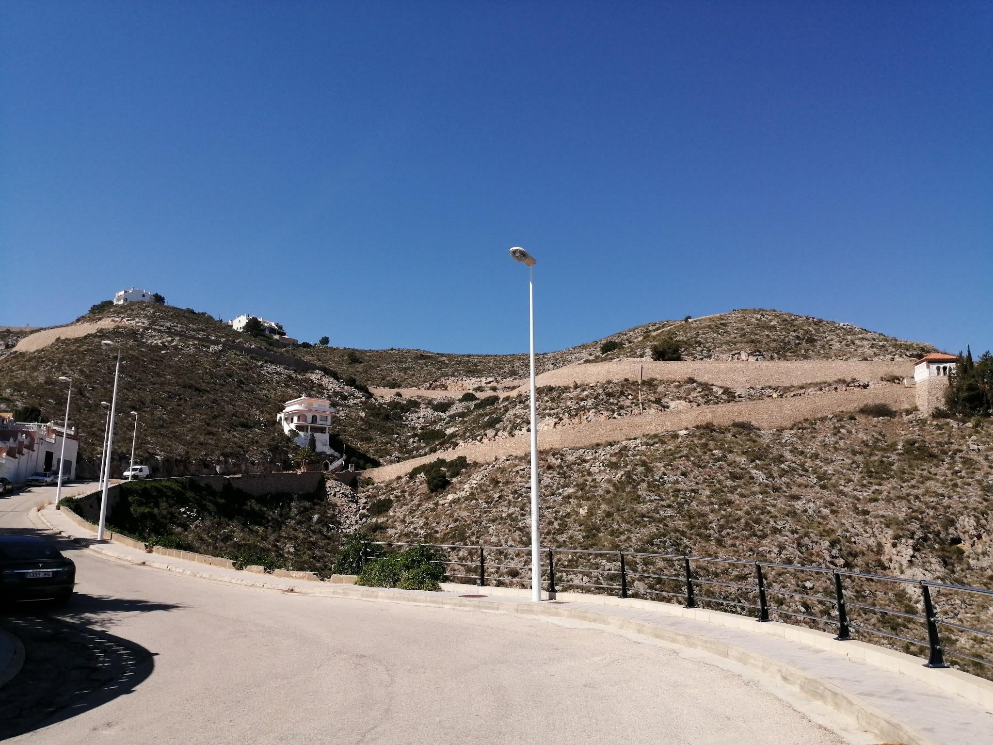 Winding road to la Bola in Cullera, Valencia